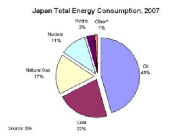 Извеждане от експлоатация на ядрени реактори, принуди японците да горят повече газ, което намалява рентабилността на енергетиката
