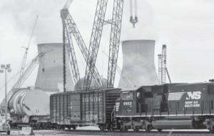 """САЩ – АЕЦ """"Вогтл-3"""" – капакът на реактора е на площадката, а самият реактор все още е на пристанището"""