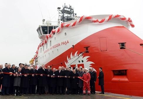 Турция въведе в експлоатация още един кораб за сеизмично разузнаване