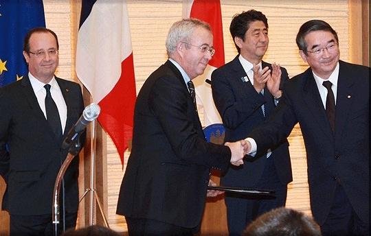 AREVA подписа съглашения за сътрудничество с две японски компании