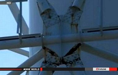 """Япония – На АЕЦ """"Фукушима-1"""" са открити пукнатини в опората, подържаща вентилационната тръба"""