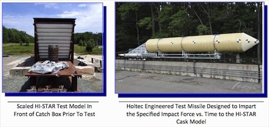 Изпитания на контейнера за отработило ядрено гориво HISTAR-180 на компанията Holtec