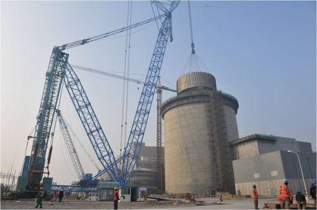 Китай – на първи блок на АЕЦ Sanmen е монтиран последният модул