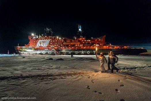"""Най-големият атомен ледоразбивач в света """"50 години от победата"""" стана част от олимпийското движение"""