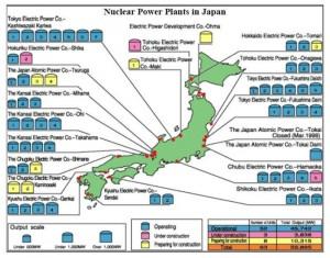 В Япония само 1/3 от АЕЦ е възможно да бъдат рестартирани
