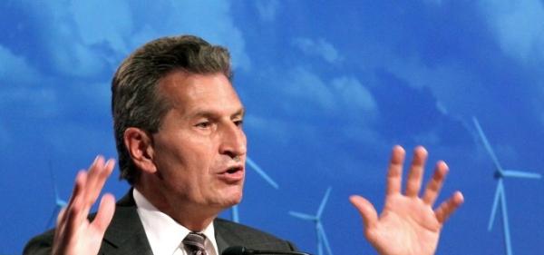 Еврокомисарят Йотингер: Германия трябва да забави развитието на алтернативната енергетика