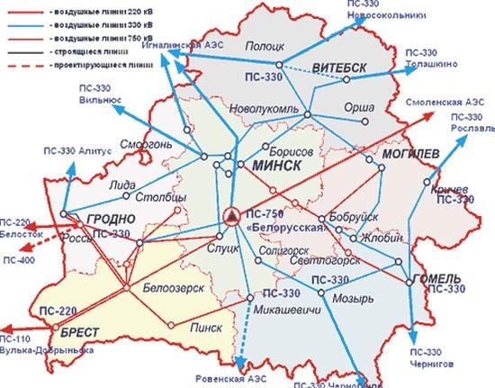 Строителството на обектите от електропреносната система на Беларуската АЕЦ започва през април