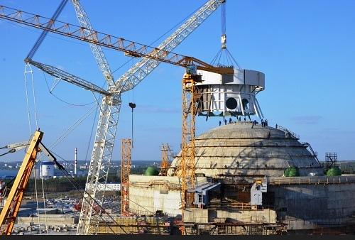 На НВАЕЦ-2 започна монтажът на куполната част на системата за безопасност