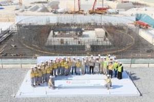 ОАЕ – започна изливането на фундамента на ядрения остров на трети блок на АЕЦ Барака (Barakah Nuclear Plant)