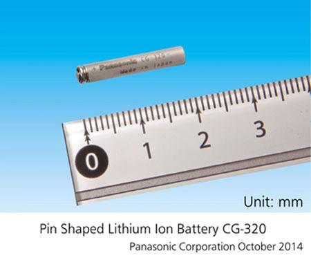 Panasonic пуска най-малкия в света цилиндричен литиево-йонен акумулатор, предназначен за преносима електроника