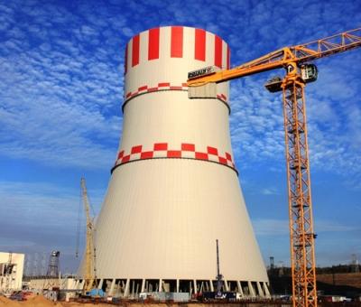 Охладителната (изпарителната) кула на първи блок на НВАЕЦ-2 е на финалната права