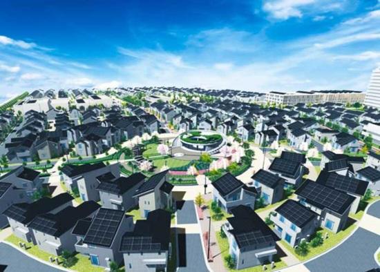 В Япония са построили цял град на слънчеви батерии