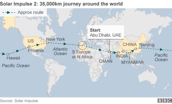 Започна околосветското пътешествие на Solar Impulse 2