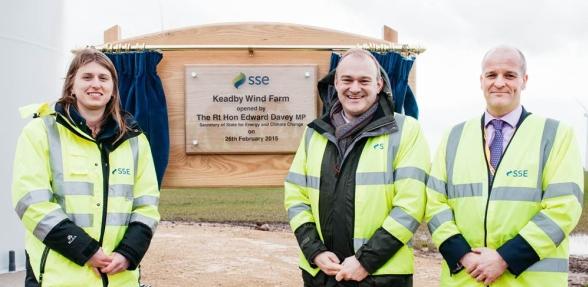 Открита е най-голямата брегова вятърна електроцентрала в Англия