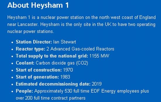 """EDF ENERGY получи """"Предупреждение за необходимост от подобрения"""" във връзка с инцидента на АЕЦ Heysham 1 във Великобритания"""