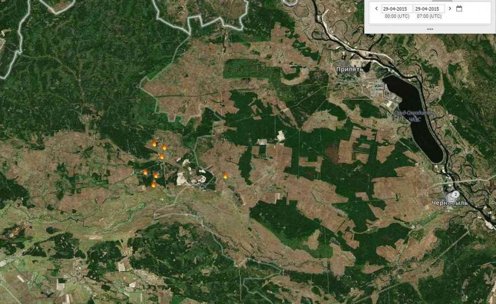 Чернобил – фронтът на пожара е спрян – последна информация от извора