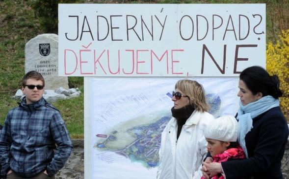 В Чехия имаше хилядни протести срещу създаването на хранилищe за РАО