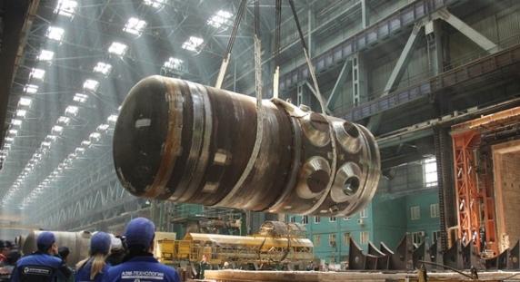 Завърши основният етап от производството на корпуса на реактора за първи блок на Беларуската АЕЦ