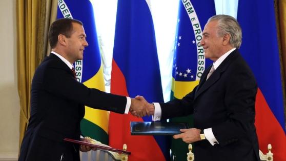 РФ има намерение да формира с Бразилия технологичен алианс на базата на ядрената енергетика и космоса – Медведев