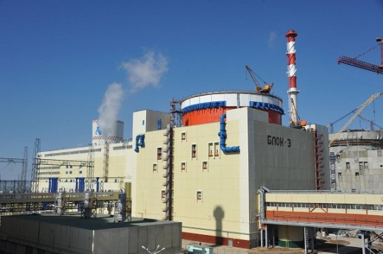 Трети блок на Ростовската АЕЦ е приет за промишлена експлоатация