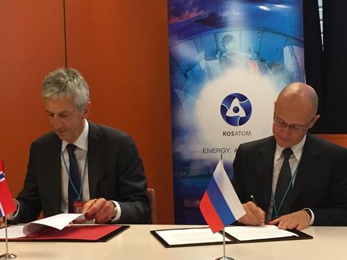 Русия и Норвегия подписаха Протокол за реализиране на практически мерки за оповестяване при ядрени аварии и обмен на информация за ядрени съоръжения
