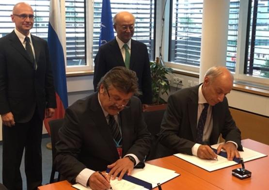 Росатом и МААЕ подписаха във Виена Практически договорености за сътрудничеството в областта на радиационната безопасност