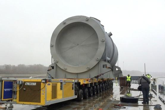 Извършва се уникална логистична операция по транспортиране на корпуса на реактора за Беларуската АЕЦ