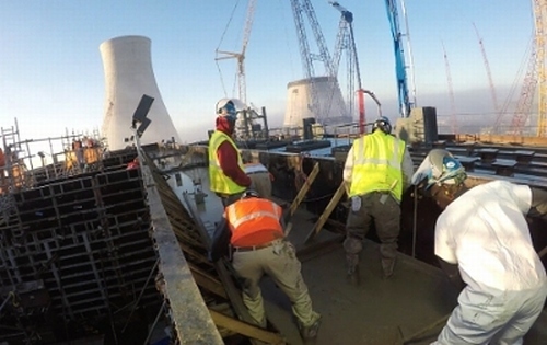 Изляха фундамента на турбината и генератора на първия в САЩ енергоблок с AP1000