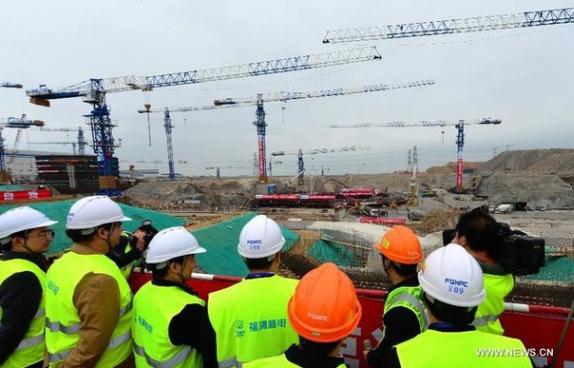 """Китай – Изляха първия бетон на шести блок на АЕЦ """"Fuqing"""""""