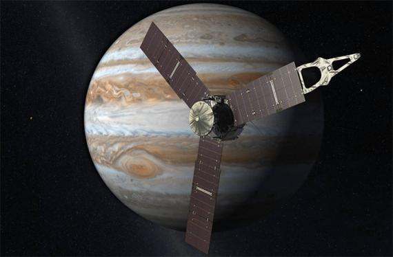 Космическата станция Юнон (Juno) уверено се приближава към Юпитер
