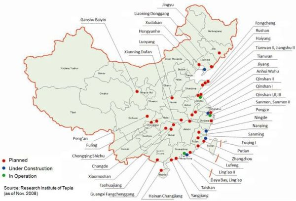 Китай планира да изгради 30 ядрени енергоблока в чужбина до 2030 година