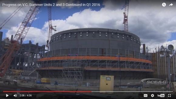 South Carolina Electric е подала заявка с новите срокове и стойност на блоковете на АЕЦ V.C.Summer с реактори AP-1000