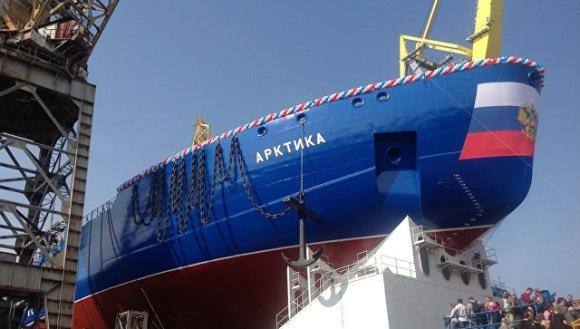 Санкт Петербург – Най-големият атомен ледоразбивач в света беше спуснат на вода