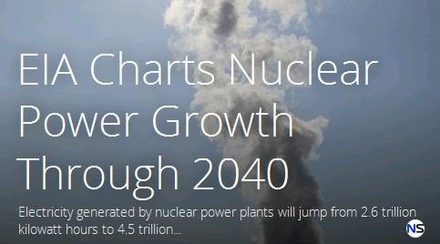 До 2040 година количеството електроенергия произведена от АЕЦ по света ще скочи със 75%.