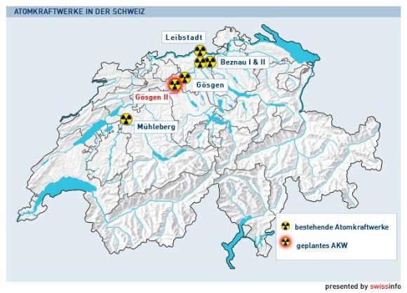 Швейцария ще решава съдбата на атомните си електроцентрали чрез референдум