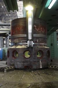 Приключи дефектоскопията на кръговия шев на полукорпуса на реактора РИТМ-200