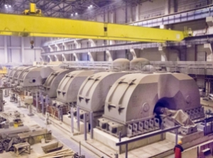 На строящия се енергоблок №1 на Ленинградската АЕЦ започна промивката на системата за смазване на лагерите на турбината