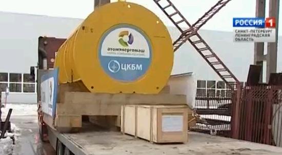 Санкт-Петербург – Първата от петте ГЦП за първи блок на Беларуската АЕЦ тръгна от завода-производител