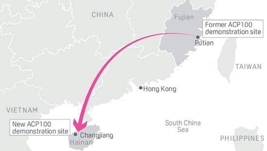 Китай – CNNC пренесе площадката за изграждане на енергоблок с малък модулен реактор ACP-100 на остров Хайнан