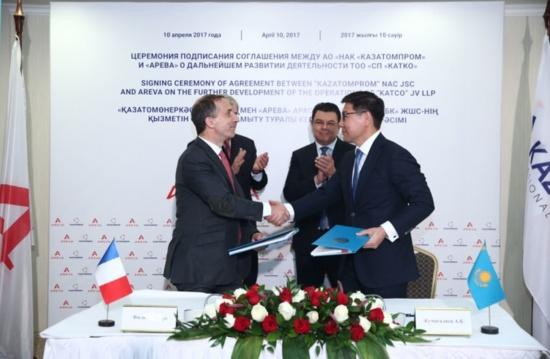 Areva и Казатомпром подписаха стратегическо споразумение
