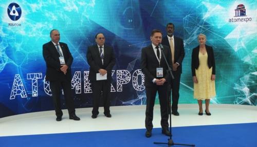 """Световният ядрен елит се събра в Москва за откриването на """"Атомекспо 2017"""""""