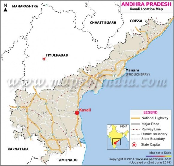 Индия – Вероятно втората площадка за руска АЕЦ ще бъде в района на град Кавали – щат Андхра Прадеш