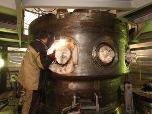 """В """"ЗиО Подолск"""" завърши сглобяването на интегрирания корпус на реактора """"РИТМ-200"""" за ледоразбивача """"Сибир"""""""