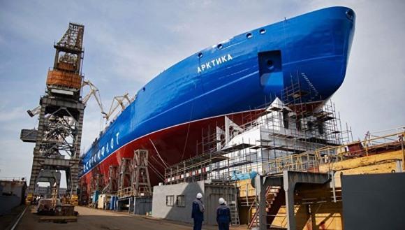 """Атомният ледоразбивач """"Сибир"""" ще бъде пуснат на вода на 22 септември"""