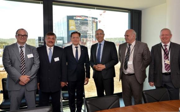 Алексей Лихачов посети площадката на изграждащия се международен термоядрен експериментален реактор ИТЕР във Франция