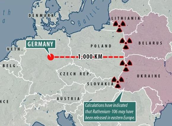 Въздухът и над Украйна е замърсен с редкия радиоактивен изотоп рутений-106 (Ru106)