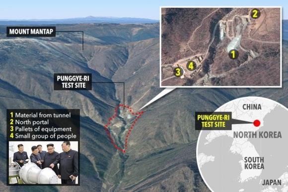 КНДР – Възможно е при срутване на тунел в района на ядрения полигон Пунгери да са загинали около 200 души