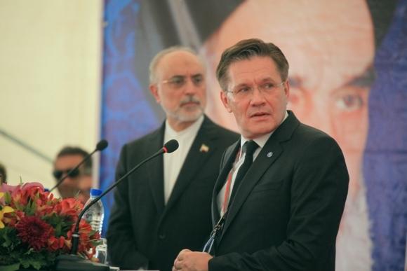 """Генералният директор на """"Росатом"""" и вицепрезидентът на Иран направиха първа копка за Втори енергоблок на АЕЦ """"Бушер"""""""