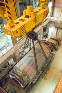 Ленинградска АЕЦ-2 – В турбинна зала на строящия се втори енергоблок всичко е готово за монтажа на статора на турбогенератора