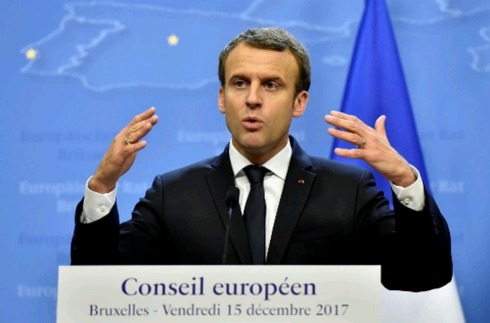 Ядрената и възобновяемата енергия ще помогнат на Франция за намаляване емисиите на CO2 , казва Емануел Макрон